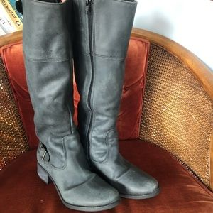 MASTISSE Genuine Leather Charcoal Riding boots